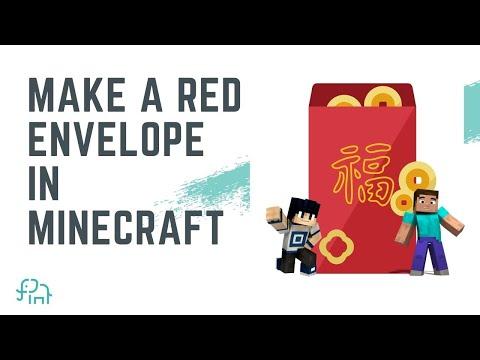 How to Make a Red Envelope in Minecraft | Beginner Minecraft Designing Tutorial