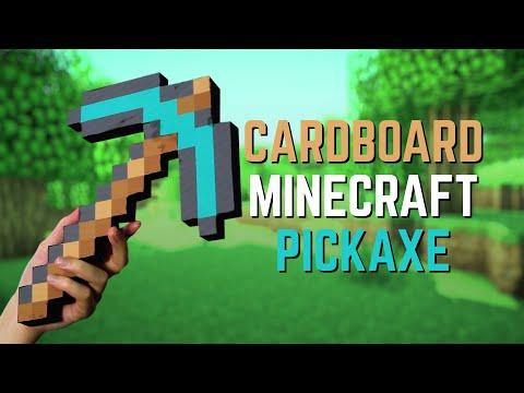 Making a Cardboard DIAMOND MINECRAFT PICKAXE!