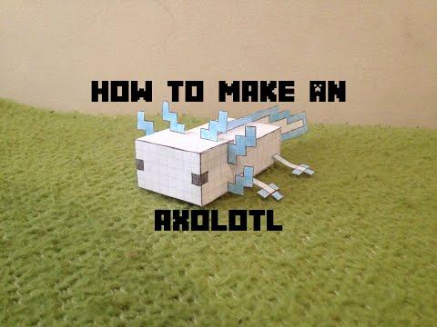 How to make a Minecraft Axolotl