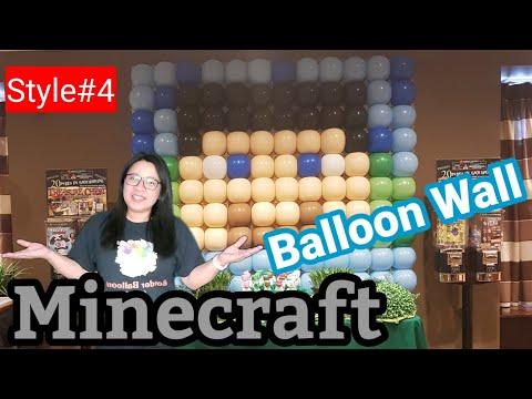 MINECRAFT BALLOON DECORATIONS | MINECRAFT BALLOON WALL | #BorderBalloons72