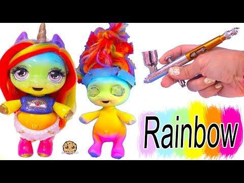 Rainbow Unicorn ! Air Brush DIY Craft Video