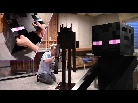 Real Life Full Size Enderman – Woodworking How-to (Minecraft)