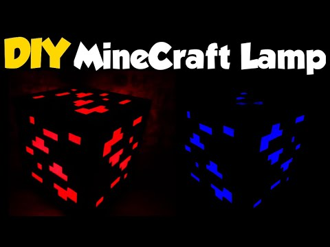 Diy MINECRAFT Lamp (I used Balloons to change the Ore colors)