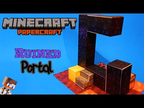 Papercraft Ruined Nether Portal Tutorial! | Minecraft Papercraft