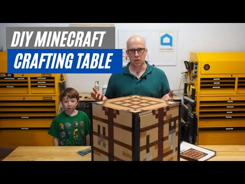 How to make a real Minecraft Crafting Table || Kids Crafting Table