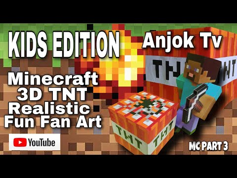 Minecraft Art- 3D TNT Realistic Fun Fan Art