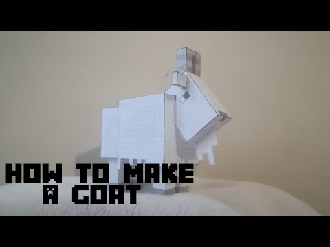 How to make a Minecraft Goat