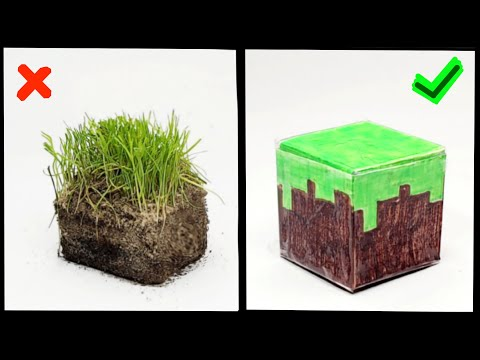 DIY – Minecraft Block in Real Life // How to make blocks from paper