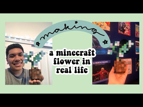 making a minecraft flower in real life! (hey gamers)