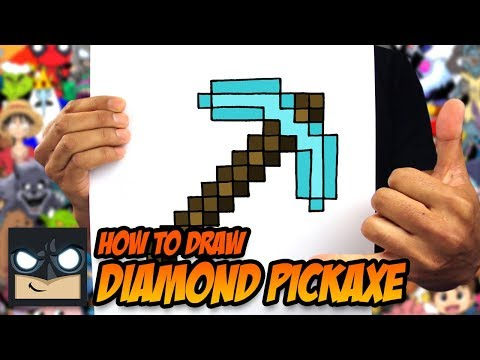 How to Draw A Minecraft Pickaxe