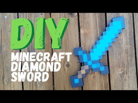 Diamond Sword from Minecraft | Cardboard DIY