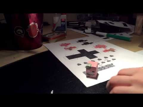 "Tutorial – Papercraft minecraft ""take back the night"" zombie Pigman ***Model by Jojesper***"