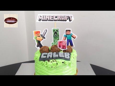 How to make a Minecraft Cake | A Decorating Tutorial