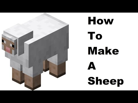 How to make a paper Sheep ( Minecraft ) Papercraft toy. Easy to make. Papercraft Minecraft