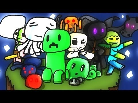 Minecraft: Super Smash Mobs w/ Ferrari + Poo