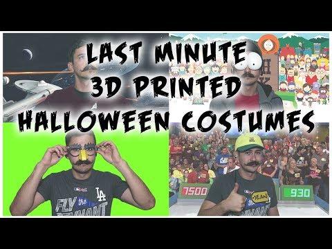 Last Minute 3D Printed Halloween Costume Ideas