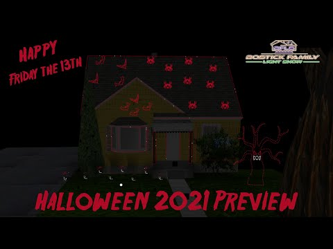 Bostick Family Light Show 2021 Halloween Preview!