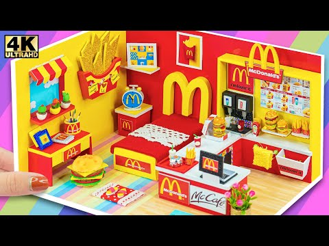 ❤️ How To Make Miniature McDonalds Bedroom from Cardboard ❤️ DIY Miniature Cardboard House #87 ❤️