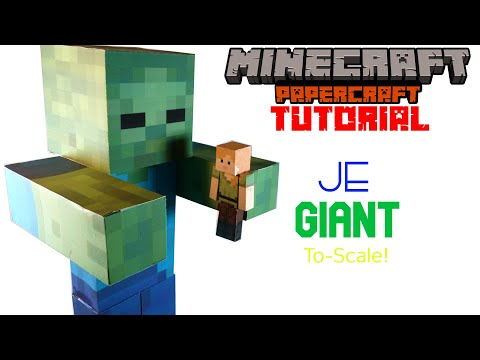 How To Make a Giant! | Minecraft Papercraft Tutorial