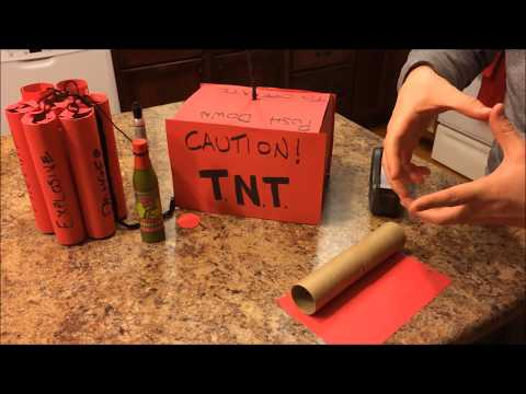 DIY Gift Wrapped as Dynamite & Plunger