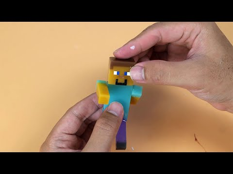 DIY Steve Minecraft From Resin