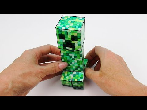 MINECRAFT CREEPER toy made of cardboard ➤ How To Make of DIY Tutorial from Cool Crafts #shorts