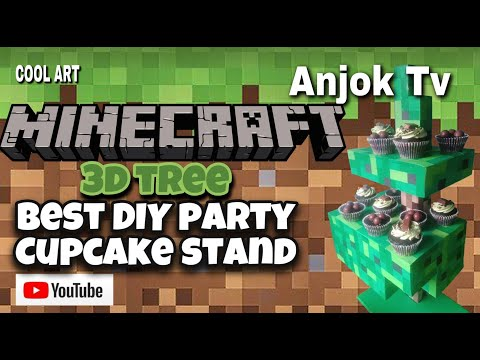Best DIY Party Cupcake Stand Minecraft Art 3D RealisticTree Fun Fan Art