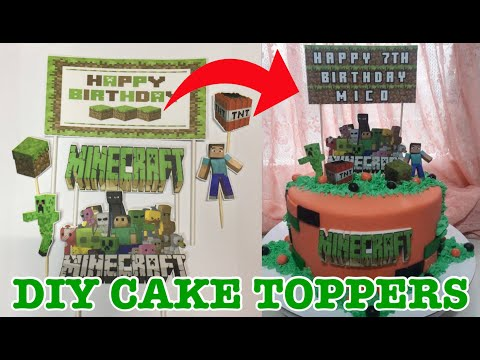 DIY MINECRAFT CAKE TOPPERS | PARTYculars