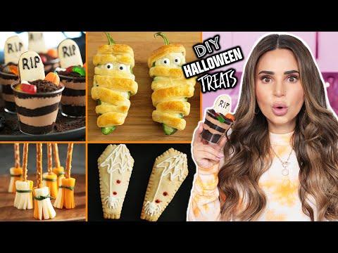 Last Minute EASY Halloween Treats | Halloween Recipes | DIY Snacks by Rosanna Pansino