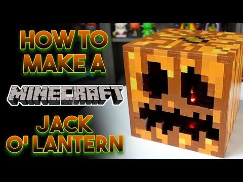 How To Make A Minecraft Jack O Lantern | Minecraft DIY