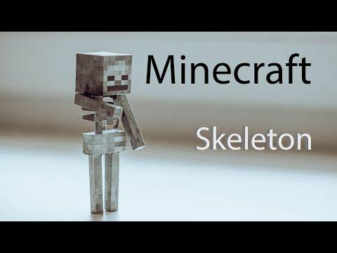 Minecraft DIY –  skeleton made of paper