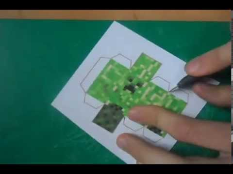 Minecraft Papercraft – how to make great quallity creeper
