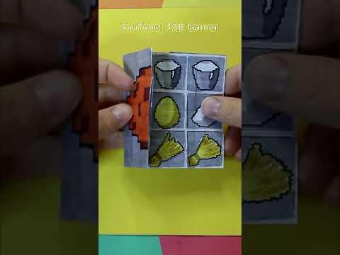 Minecraft Crafts Endless Card / Бесконечная открытка Майнкрафт / Крафтим торт и печенье